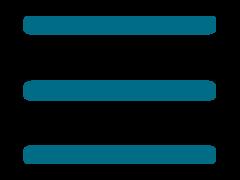 Three lined menu icon